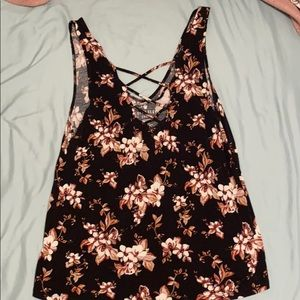 American Eagle soft floral tank